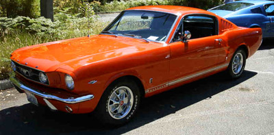 1966 ford mustang fastback poppy red