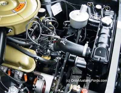 1966 Mustang V8 Engine No Shroud