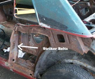1967 Mustang door striker