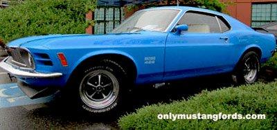 1970 boss 429 painted grabber blue