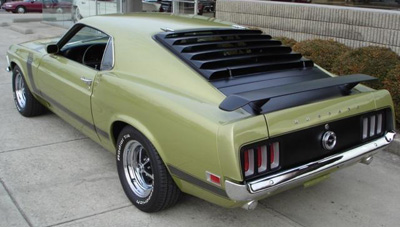 1970 boss 302 lime green
