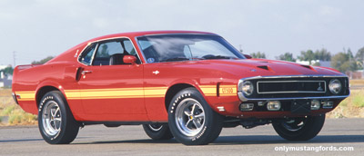 1970 gt500 red mustang
