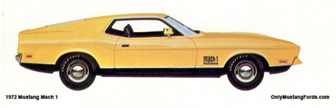 yellow 1972 ford mustang mach 1