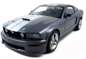 2007 Ford Mustang diecast in grey