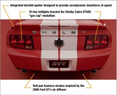 2007 ford mustang shelby gt 500 rear end