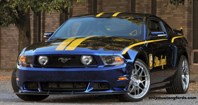 2012 Mustang blue angels front splitter