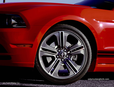 Mustang V6 optional wheels for 2013