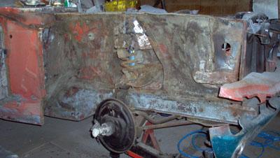 1965 mustang restoration  inner fender
