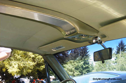1967 ford mustang overhead console