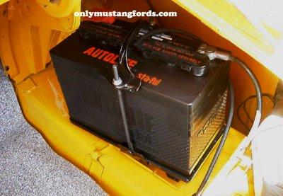 boss mustang battery in trunk