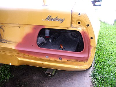 1972 ford Mustang tail light restoration