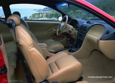 1998 ford mustang cobra tan inrterior leather