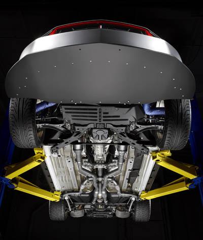 Ford Mustang Laguna Seca quad exhaust