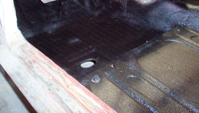 sealed floor pan replacement