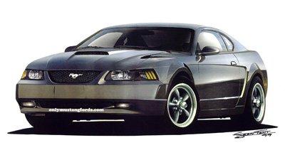 Ford Mustang bullitt concept car drawing