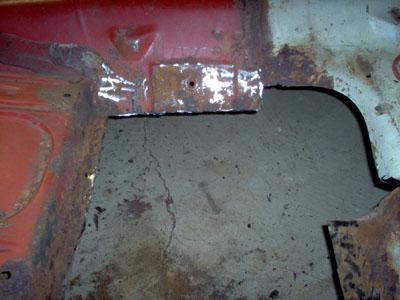 rear floor pan replacement