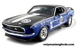 red 1969 Boss Mustang diecast cars
