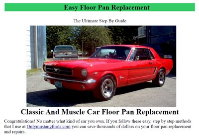 mustang floor pan replacement ebook