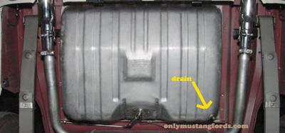 gas tank drain plug