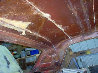 headliner replacement on a 1965 Ford Mustang