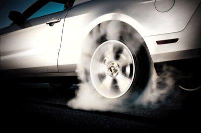 mustang beats camaro burnout