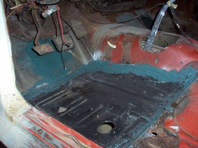 floor pan seam blending