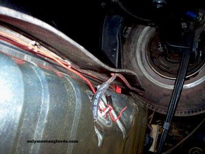 gas tank sender location